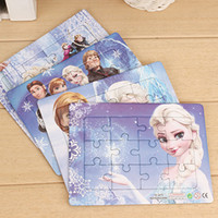 Wholesale Children s jigsaw puzzle toy boy girl cartoon paper puzzle piece Cheap paper puzzle