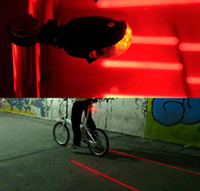 Wholesale L Laser LED Cycling Tail light Safety Warning Laser Cycling Bicycle Bike light Flash Mode Safety Rear Lamp waterproof Laser
