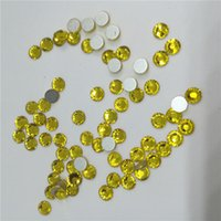 glue on nails - Cheap Round Glass Loose Beads Flat Back Rhinestone with Silver Foil Fashion Trends Jewelry Making Supplies Used Glue on Nail Garmetn