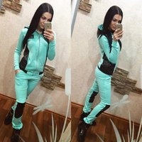 Wholesale New Comfortable two piece outfit Hooded sweat suit Women High elastic clothes fashion leisure Letters sport suit Sweatshirts suits