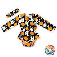 baby onsies - Baby girl romper Halloween w headband baby girl onsies one piece baby dress baby jumpsuit