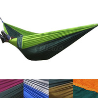 Wholesale Double Person Portable Parachute Nylon Fabric Hammock Travel Camping Large Size