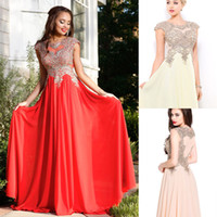 Wholesale Plus Sizes Chiffon Applique Formal prom party dress A line Custom evening dressess gowns special occasion dresses Spring Summer QW806