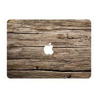 apple macbook laptop decal - Old Wild Wood Grain Texture Top Vinyl Front Cover Laptop Sticker For Apple Macbook Air Pro Retina inch Laptop Decal Skin