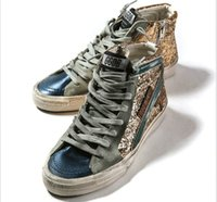 Cheap Original Italy Golden Goose Casual Shoes Gold Genuine Leather GGDB Superstar Women Men Glitter High Tops Couples Shoes Scarpe