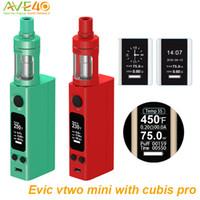 Precio de Evic joytech-Joyetech Evic Vtwo Mini con Cubis Pro Kit 75W Nueva actualización <b>JOYTECH EVIC</b> VTC mini-mod eGrip V Wismec RX75W II Dripbox original e cigs Vape pluma