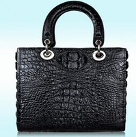 Wholesale Top Grade Real Leather Lady Box Shape Bag Top Handle Women Fashion Designer Handbag