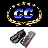 Wholesale Car Door Logo Laser Projector Ghost Shadow Light FOR VW Golf Jetta MK5 MK6 Passat B6 b7 Scirocco EOS