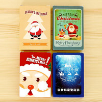Wholesale 28PCS pack New Creative Christmas series DIY Mini card set Nice Gift Cards Christmas Fashion card