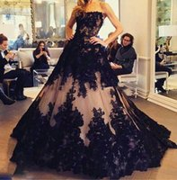 apple europe - Europe Style Boat Neck Off The Shoulder Sexy Cheap Prom Dresses With Black Appliques Elegant Ball Gown Luxurious Evening Gowns