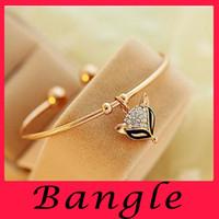american beauty rose - European and American Beauty Rose Gold Bracelet Vintage Crystal Diamond Bracelet Korean cute Fox Alloy bracelet