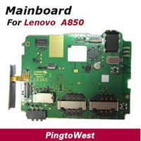 Wholesale Original Used Worked Well Lenovo A850 mainboard mother main board with soldering Volume flex Cable r