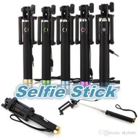 Cheap Self-portrait Stick Holder with Cable Best Built-in Shutter and Clip
