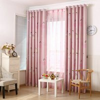 arrival blackouts print - New Arrival girl s cartoon printing Curtain Sheer Curtains Blackout For the bedroom Living room Window Drape
