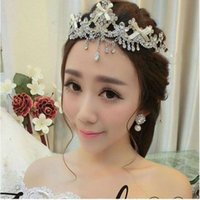 Wholesale Tiaras Crowns Luxurious Bridal Headwear Wedding Accessories Brides Headpieces Jewelry Hair Pieces Bridals Fascinators Forehead