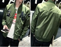 air force motorcycle jacket - 2016 New Arrival Mens brand clothing High Quality Army Green motorcycle Flight Jacket Pilot Air Force Men Bomber baseball Jacket