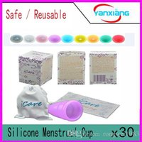 Wholesale 30pcs Safe Menstrual Cup iCare Reusable Safety Soft Menstrual Cup Feminine Hygiene Product Eco Period Cup Medical Grade Silicone Cup YX COPO