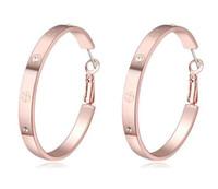 Wholesale earrings K Gold Plated Hoop Earrings Jewelry Women New Fashion Quality Austrian Crystal Drop Earrings Drop Shipping TER092