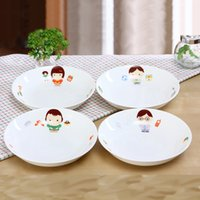 Wholesale New Arrival Hot selling Happy Family High Quality Bone China Inch Dishes Lovely Dinnerware Sets
