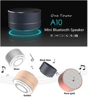 audio modem - 2016 new modem Aluminum Alloy Bluetooth speaker with LED Light A10 bass subwoofer mini wireless calls handsfree TF card music for dhl free