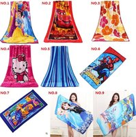 Wholesale Reactive printing Bath Towel Microfiber towel printing beach towel of foreign trade Cartoon towel cm