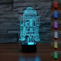 Cheap Star Wars Force Awaken R2-D2 Robot Children Bedroom Decorative with built in 7 Color Change LED USB Touch