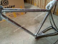 Wholesale 53cm titanium road bike frame tapered head tube outer cable fixed dropout and one piece tail hook straight seat stay and chain stay