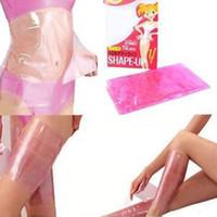 Wholesale Body Tummy Sauna Belt Belly Waist Wrap Slimming Sweat Burn Cellulite Fat Body Wraps Leg Thigh Shaper Weight Loss