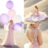 amazing baby pictures - Amazing Latest Baby Pink Crystal Beaded Prom Dresses Long Sexy Backless Baby Pink Long Formal Party Gown Custom Made China EN7146
