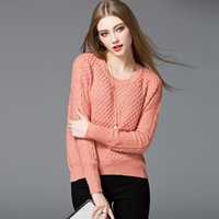 Wholesale Mara Ka new winter sweater Couture twist long sleeved T shirt thickened bottoming sweaters