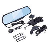 "Cheap car dvd Universal 5"" HD Rear View Mirror GPS WIFI Car DVR Dual Camera Recorder"