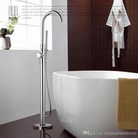 Wholesale brass toilet tub floor standing bathtub shower faucet floor stand faucets