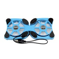 Wholesale Foldable USB Cooling Fan Mini Octopus Notebook Cooler Cooling Pad Quiet Stand Double Fans For to inch Notebook Laptop PC
