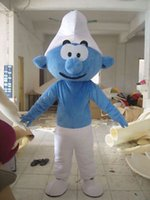 Wholesale New murf of The Smurfs Mascot Costume Dress Mascot Fancy Adult Size