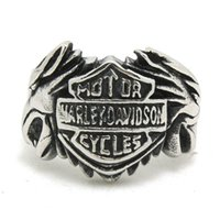 band motorcycle - 3pcs New Design Silver Wolf Head Cool Motorbiker Ring L Stainless Steel Fashion Jewelry Band Party Motorcycles Biker Ring