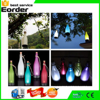Wholesale 20 Home Decoration Solar Garden Light Sense Cork Wine Bottle LED Hanging Lamp Solarmodul Party Courtyard Patio Pathway