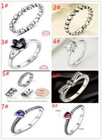 Wholesale 8 types rings sterling silver rings wedding Ring lover rings Jewelrysterling silver engagement ring
