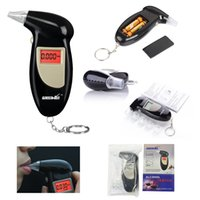 Wholesale Professional Digital Alcohol Detector LCD Display Blowing Breath Tester Analyzer Breathalyzer with mouthpieces