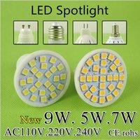 Wholesale Super Bright MR16 LED Lamp LED Spotlight W W W Bombillas E27 E14 GU10 Spot light Lampada LED Bulb E27 V V Lampara