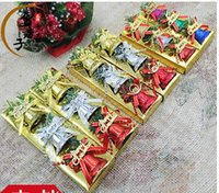 Wholesale 6pic box New Merry Christmas Bells Christmas Letters Butterfly Bells Hanging Decoration For Home Navidad New Year