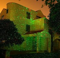 Wholesale Outdoor Laser Christmas Lights Projector Star Red Green Firefly Spotlights Garden House Yard Patio Landscape Holiday Decoration