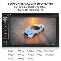 Wholesale F6076B inch Touch Screen DIN Car DVD In Dash FM Radio Receiver Bluetooth DVD CD Player with Wireless Remote Control CMO_20U