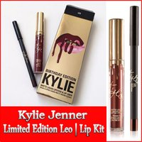 Wholesale Kylie Jenner Lipkit In LEO Limited Edition Birthday CONFIRMED Matte Lipstick Liner kylie Jenner Lip Kit Lipstick best gift