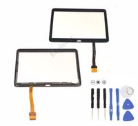 Wholesale Original New Touch Screen Digitizer Front Outer Glass Panel with Pre install Adhesive for Samsung Galaxy Tab quot SM T530 T531 T535 DHL