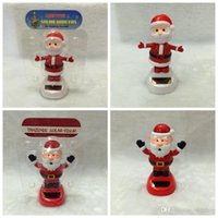 Wholesale Solar Dancing Santa Claus Solar Toys For Car Decoration Accessories Cute Solar Flip Flap ABS Robot cm Christmas Gift