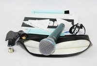 Wholesale Top Quality Version Beta58a Vocal Karaoke Handheld Dynamic Wired Microphone BETA58 Microfone Mike Beta A Mic