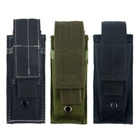 belt magazine - Molle Single Pistol Mag Magazine Pouch Flashlight Tool Knife Sheath Cartridge Clip Holster Belt Holder