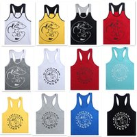 active sport wear - 12 colors Cotton Men Gym Clothes Shark Tank Tops Stringer Singlets Fitness Gorilla Wear Sleeveless Shirt Sports Vests D629
