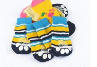 best apparels - 5 set Best Price Sales Small Pet Dog Doggy Shoes Lovely Soft Warm Knitted Socks Clothes Apparels