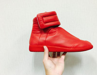 Wholesale Maison Martin Margiela Sneakers Genuine leather Men s shoes Hight Top Mens Shoes Women Flat Shoes
